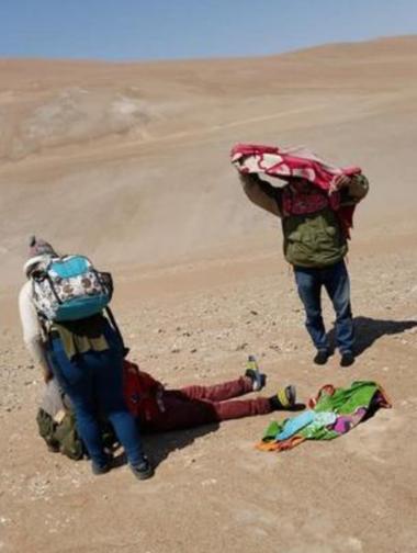 Los migrantes pasaron sed y hambre al no llevar provisiones suficientes