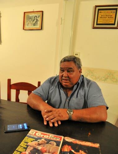 Juan Domingo Martillo Roldán, en su hogar en Córdoba