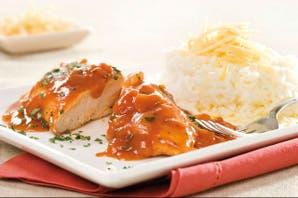 Pollo con salsa agridulce de tomate