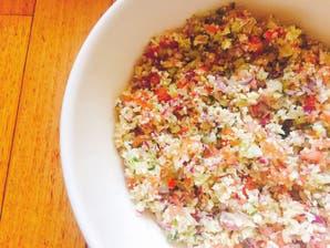 Ensalada fría de couscous de coliflor