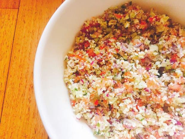 Receta de Ensalada fría de couscous de coliflor
