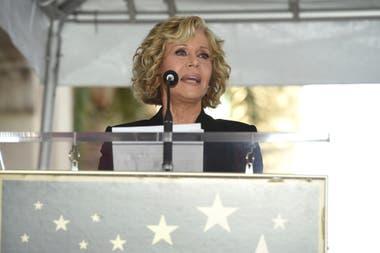 Jane Fonda fue la encargada de brindar un discurso de introducción al homenajeado