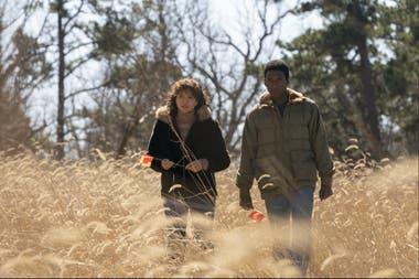 Carmen Ejogo y Mahershala Ali en la tercera temporada de True Detective