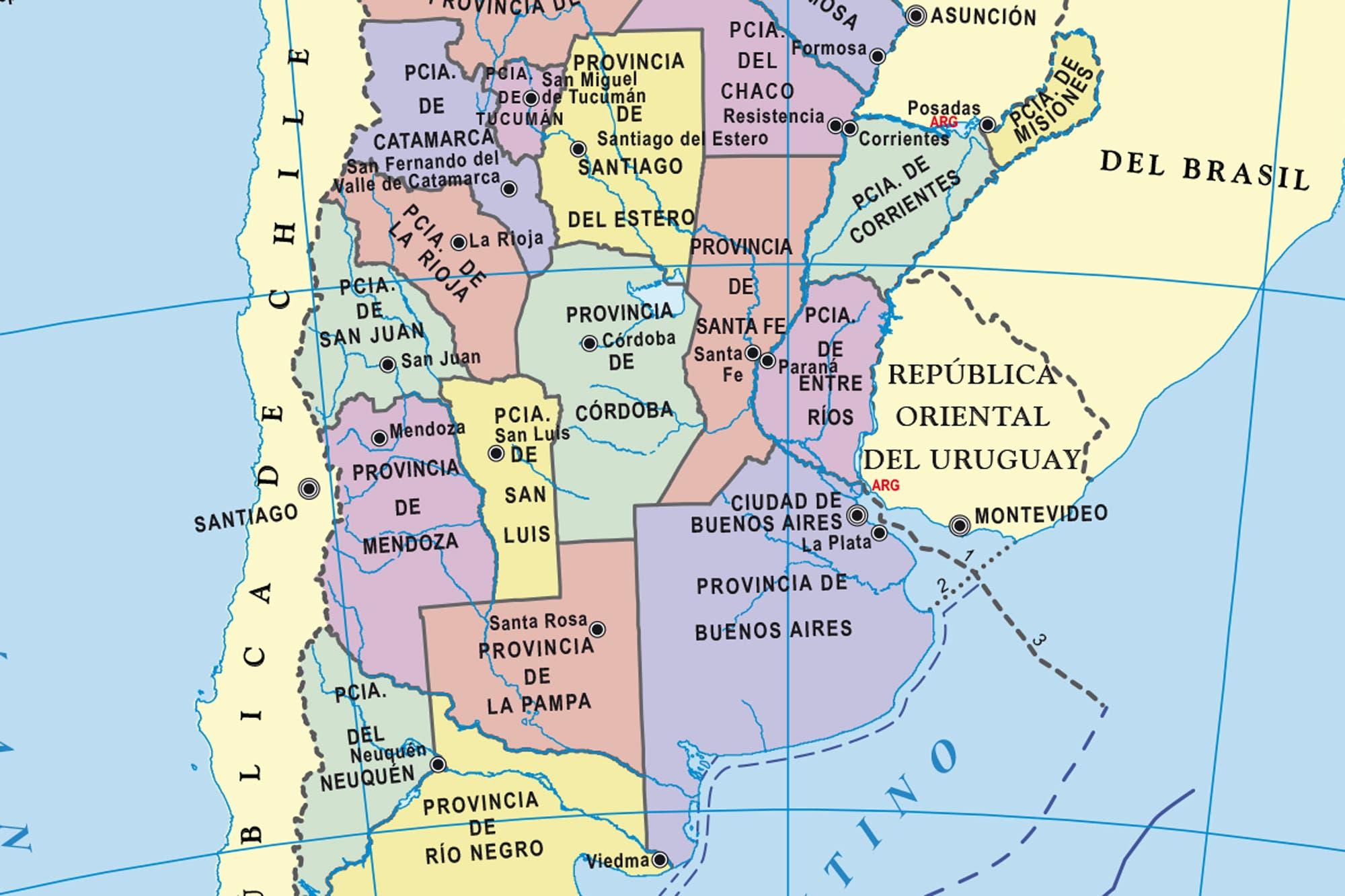 Mapas De La Argentina Gratis Todas Las Provincias Para Descargar
