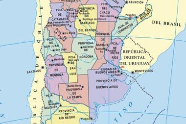 Mapa De Argentina Provincias.Mapas De La Argentina Gratis Todas Las Provincias Para