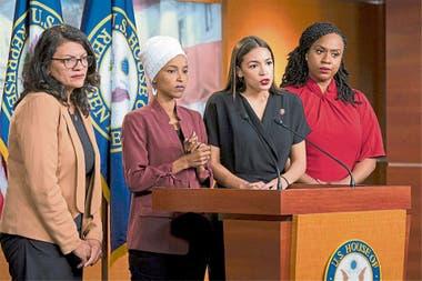 Las cuatro legisladoras atacadas por Trump brindaron una conferencia de prensa