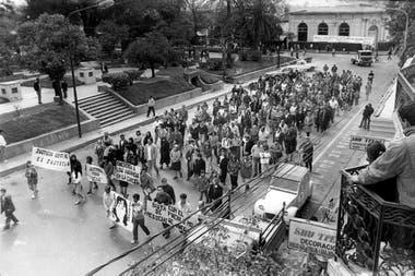 Marcha del silencio por María Soledad Morales realizada en agosto de 1992