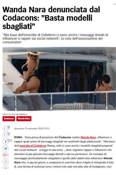 La foto de la modelo que despertó la polémica fue difundida por el diario italiano Corriere dello Sport