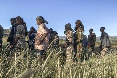 Milicianos etíopes