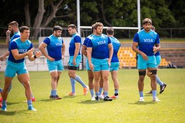 Bruni, Montoya y Delguy, en el último de los entrenamientos de los Pumas