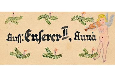 Una postal de Navidad para la guardia de las SS Anna Enserer