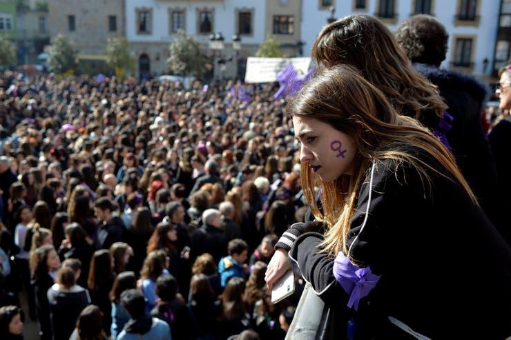 España, otro de los países que se levantó en reclamo por la igualdad de género