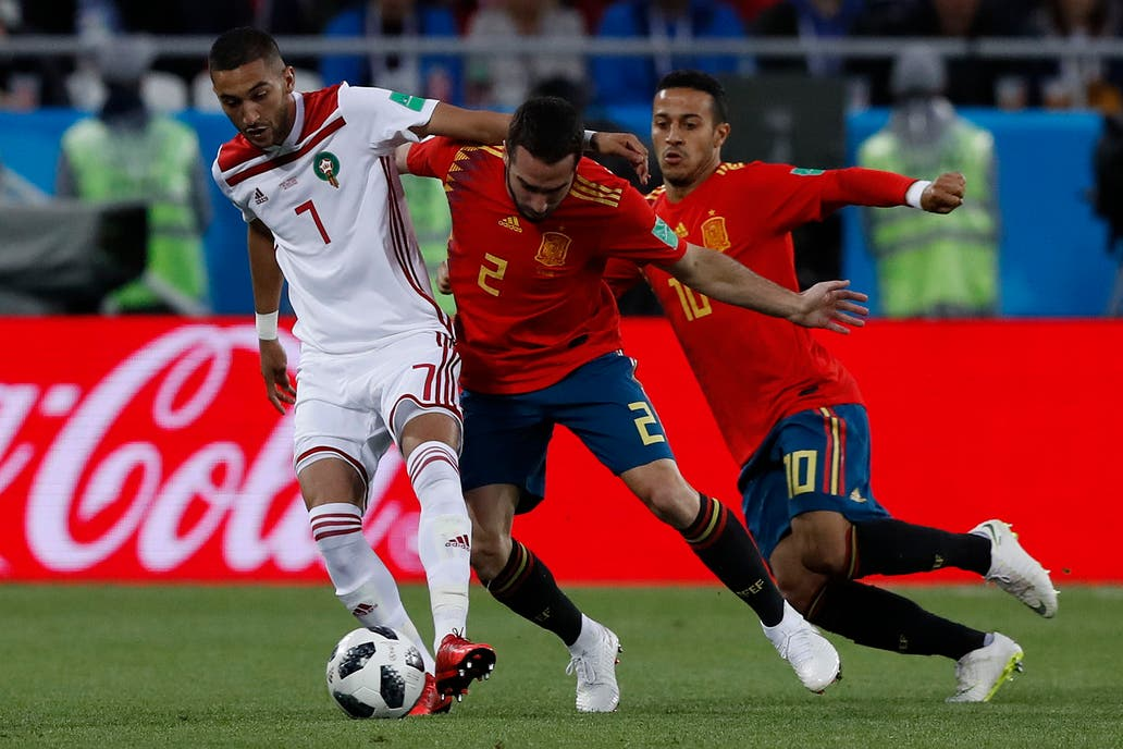 2c16e13ae5222 Mundial 2018  España empató con Marruecos y se medirá con Rusia en octavos de  final