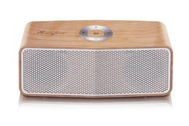 Un LG Flow P5; si se vincula a otro igual, funcionan como una única fuente de sonido