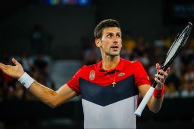 Djokovic en pleno partido