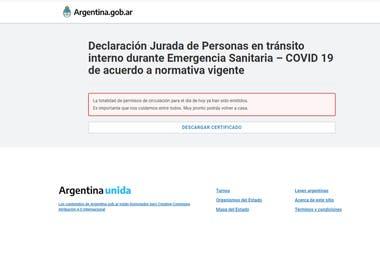 Captura de pantalla de la web donde se tramitaba el formulario y que ahora está suspendida