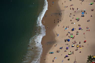 Una vista aérea de las playas de Rio de Janeiro