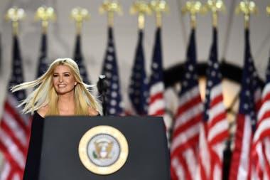 Ivanka Trump, hija de Donald Trump y asesora de la Casa Blanca, durante la convención republicana, el jueves pasado