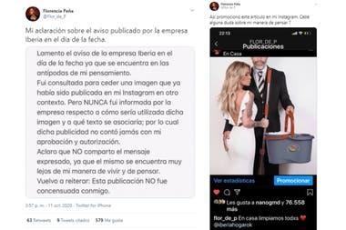 El descargo de Florencia Peña ante las críticas por un aviso publicitario en el que fue protagonista