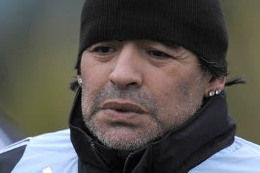 En 2009, en un entrenamiento al mando del equipo argentino