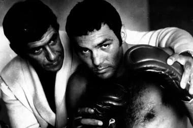 """Juan Domingo """"Martillo"""" Roldán y Tito Lectoure, su mentor al borde del ring"""