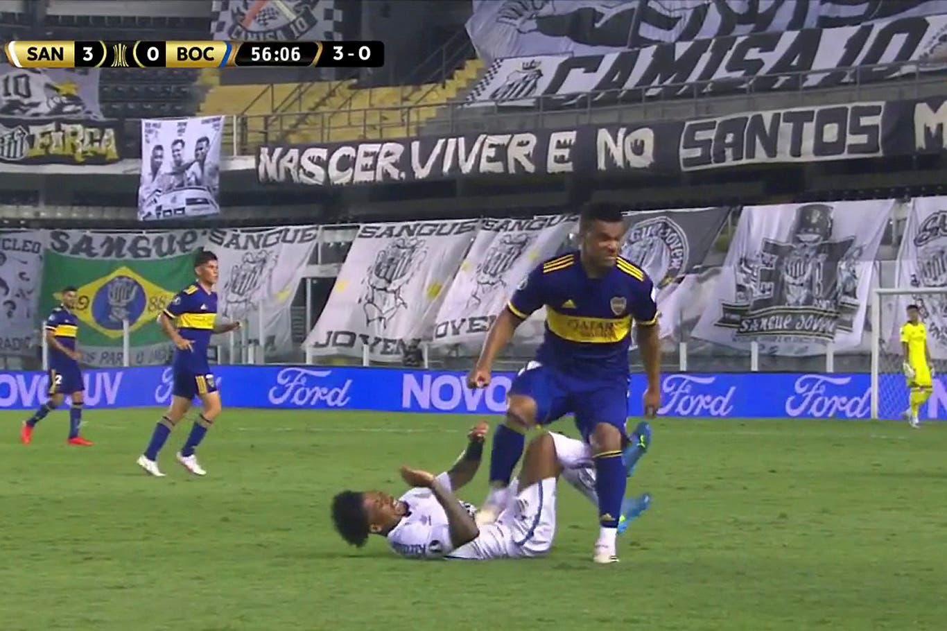 Santos - Boca: un tanto curioso, dos golazos y un tiro en el palo de los brasileños