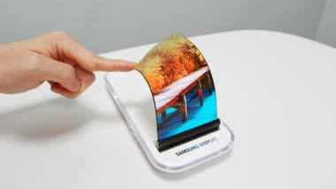 Un prototipo de pantalla flexible de Samsung Display