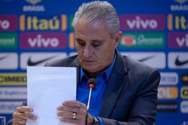 Tité dio la lista de 23; Brasil jugará dos amistosos antes del Mundial