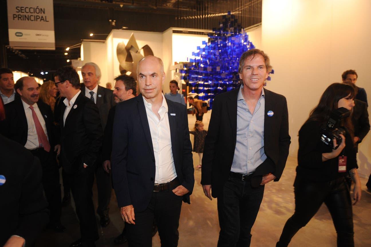 Alec Oxenford, presidente de arteBA Fundación, y el Jefe de Gobierno de la Ciudad de Buenos Aires, Horacio Rodríguez Larreta