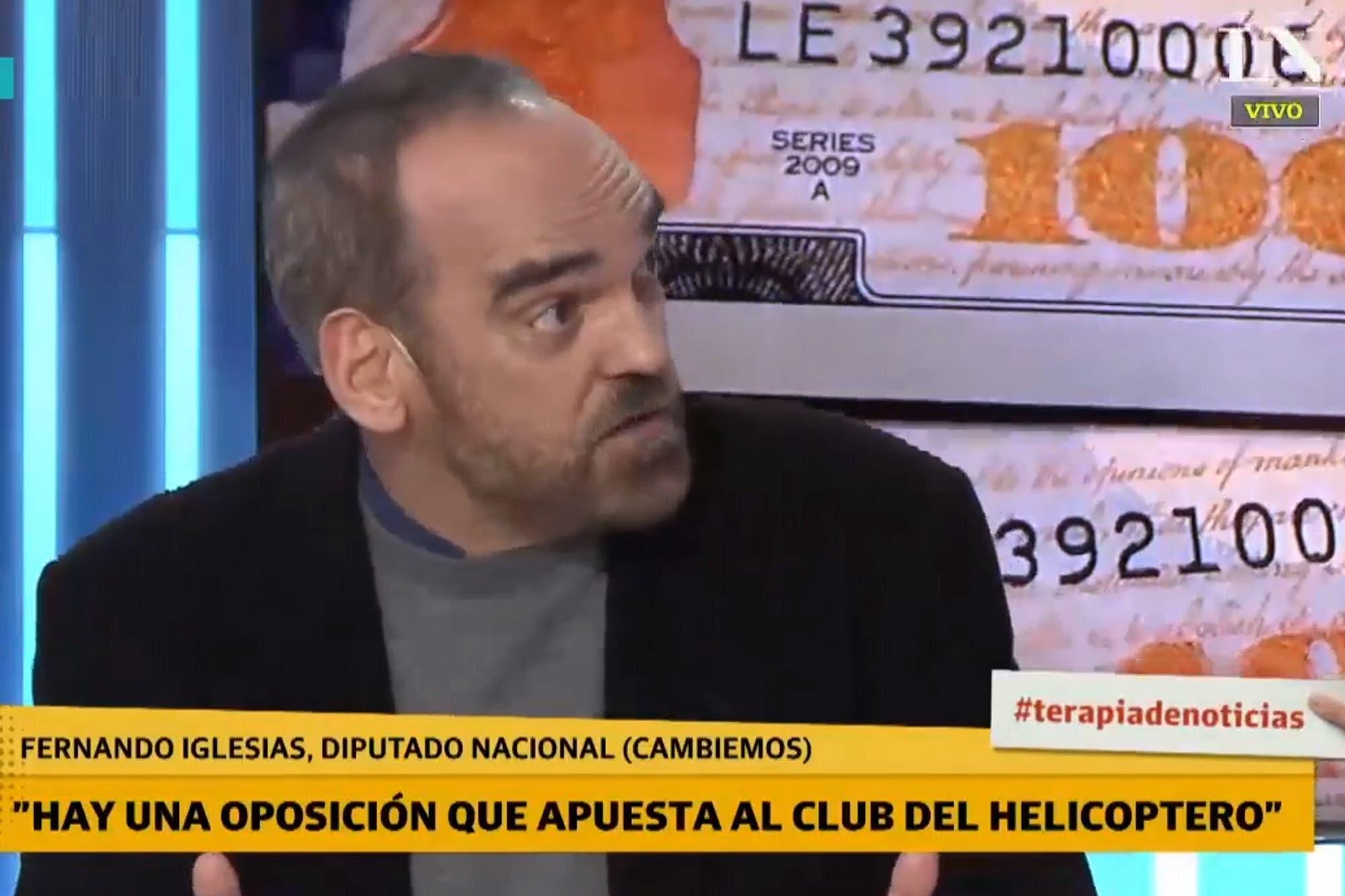 """Según Fernando Iglesias, """"hay una oposición feroz que apuesta permanentemente al club del helicóptero"""""""