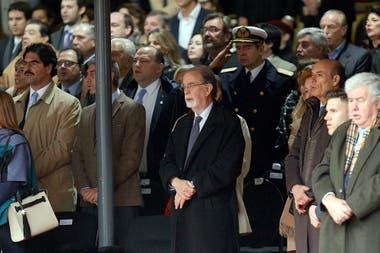 El presidente del Banco Nación, Javier González Fraga en el palco oficial