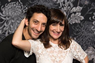 Jorgelina Aruzzi junto a Juan Minujin, su compañero de elenco