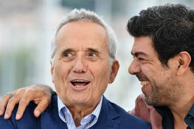 Marco Bellocchio con el actor Pierfrancesco Favino