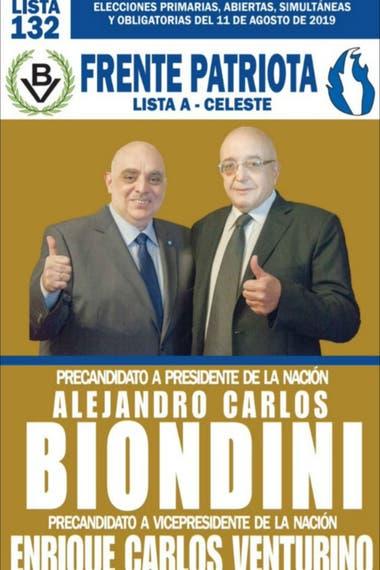 Biondini y Venturino encabezan la lista 132