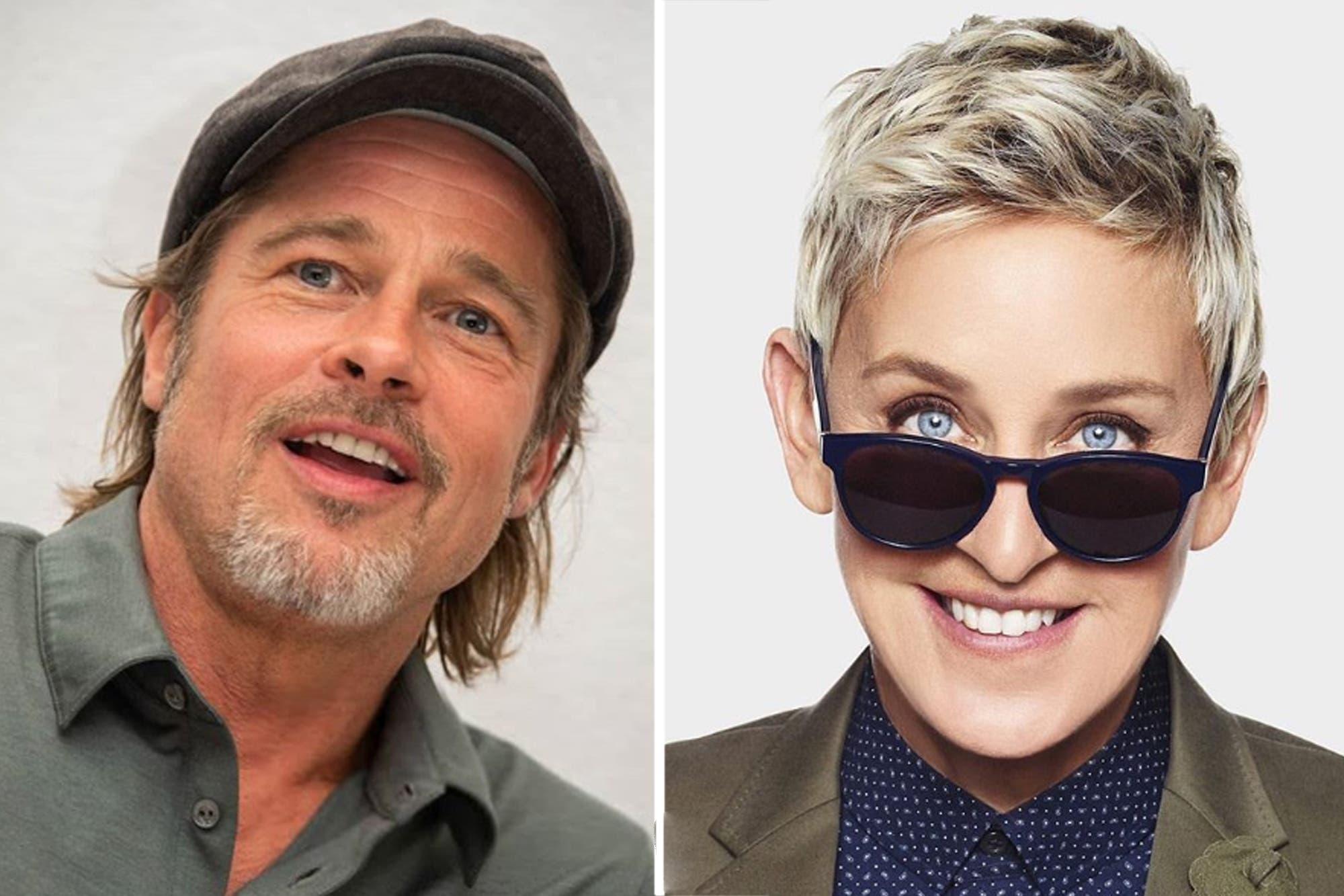 Brad Pitt y Ellen DeGeneres confesaron que salieron con la misma mujer