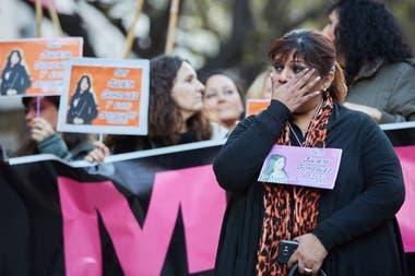 La mamá de Julieta, durante una reciente marcha de Ni Una Menos en repudio al fallo judicial.