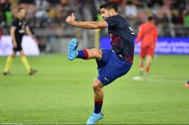 Suárez, en el partido del miércoles pasado contra Atlético de Madrid