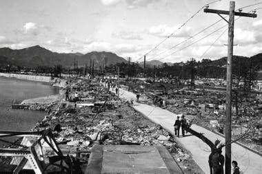 Imagen de una de las calles principales de la ciudad de Hiroshima