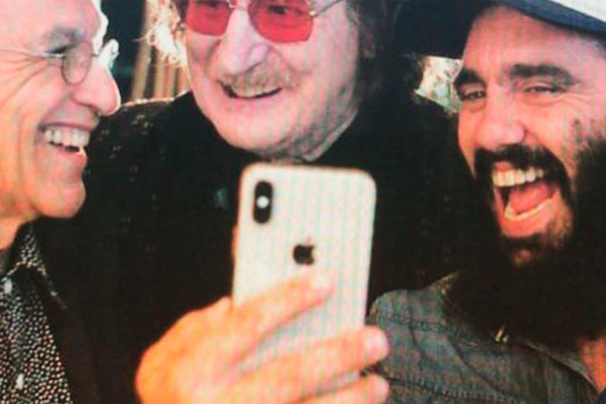Juan Pablo Sorín saludó a un músico por su cumpleaños con una foto con Charly García