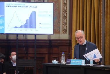 """El gobierno bonaerense anunció un """"amesetamiento"""" de contagios """"con niveles altos"""""""