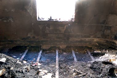 Así quedó la habitación de Elsa Serrano luego del incendio