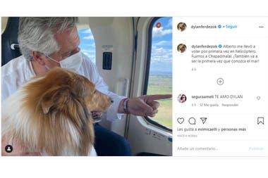En el perfil de Instagram del perro del presidente Alberto Fernández se pudo ver el segundo viaje del mandatario a la residencia oficial en la costa
