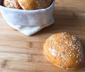 Pan casero para hamburguesas