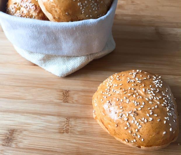 Receta de Pan casero para hamburguesas
