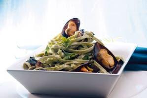 Cintas de espinaca y cilantro