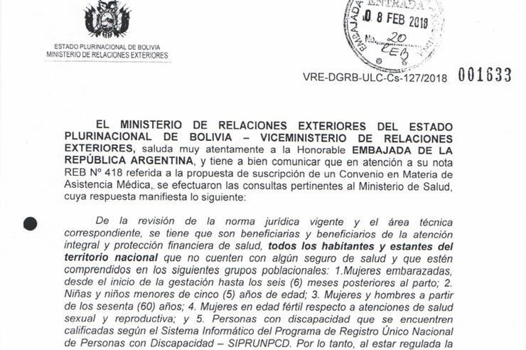 Argentina pidió reciprocidad a Bolivia en la atención médica de inmigrantes y Evo dijo que no