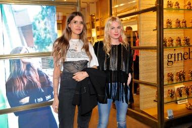 Micaela Tinelli recibió a Esmeralda Mitre en el local de su marca, Ginebra