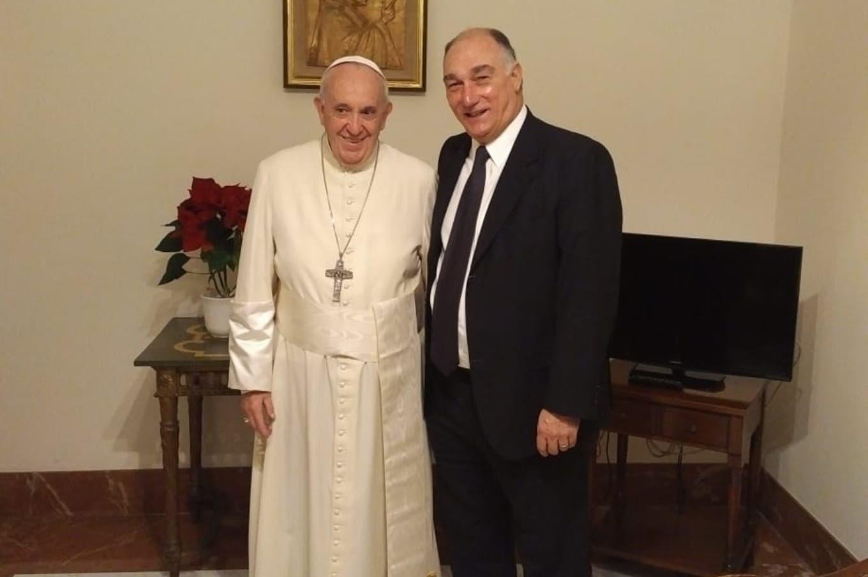 El papa Francisco recibió al exdefensor del pueblo Eduardo Mondino