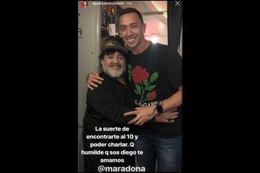Agustín Marchesín compartió su encuento con Maradona en las redes