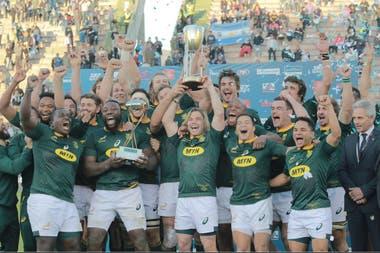 En Salta, Sudáfrica se coronó por primera vez vencedor del Rugby Championship, en la reducida (tres fechas) versión de 2019.